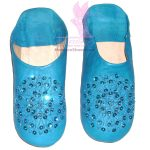 Sequin Snowflake Home Slippers