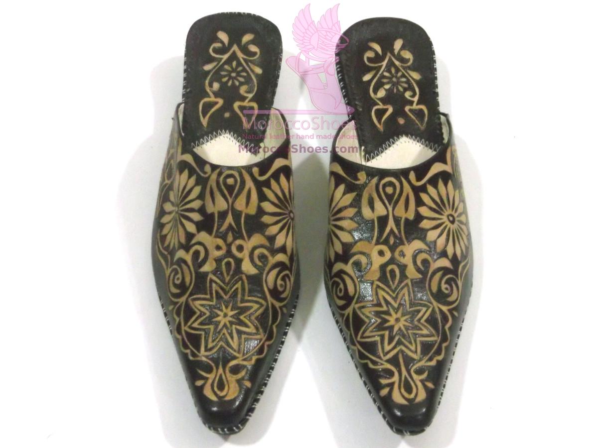 Vine Embossed Slippers