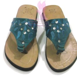 Embroidered Thong Sandal