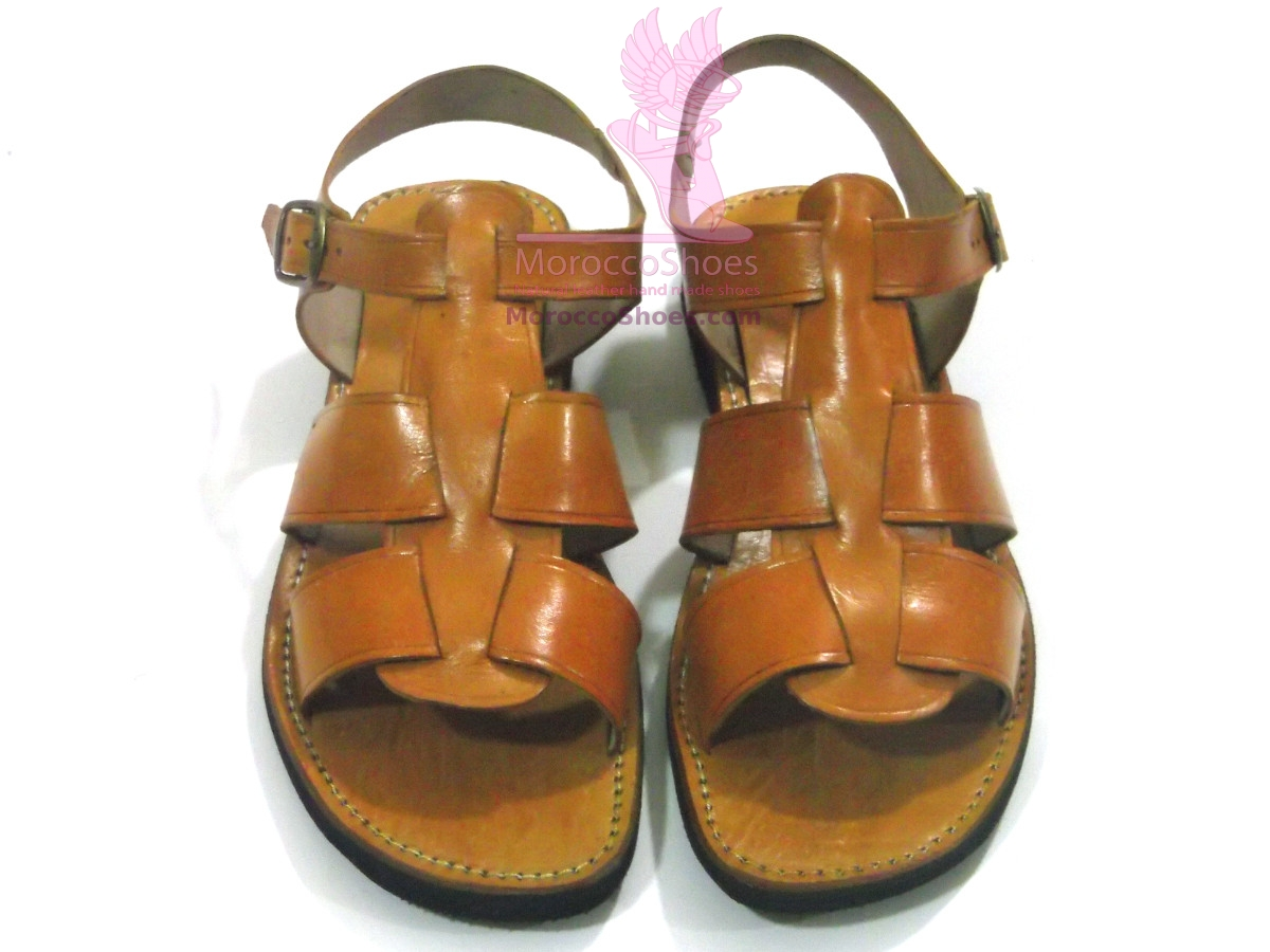 Leather Strap mens Sandal