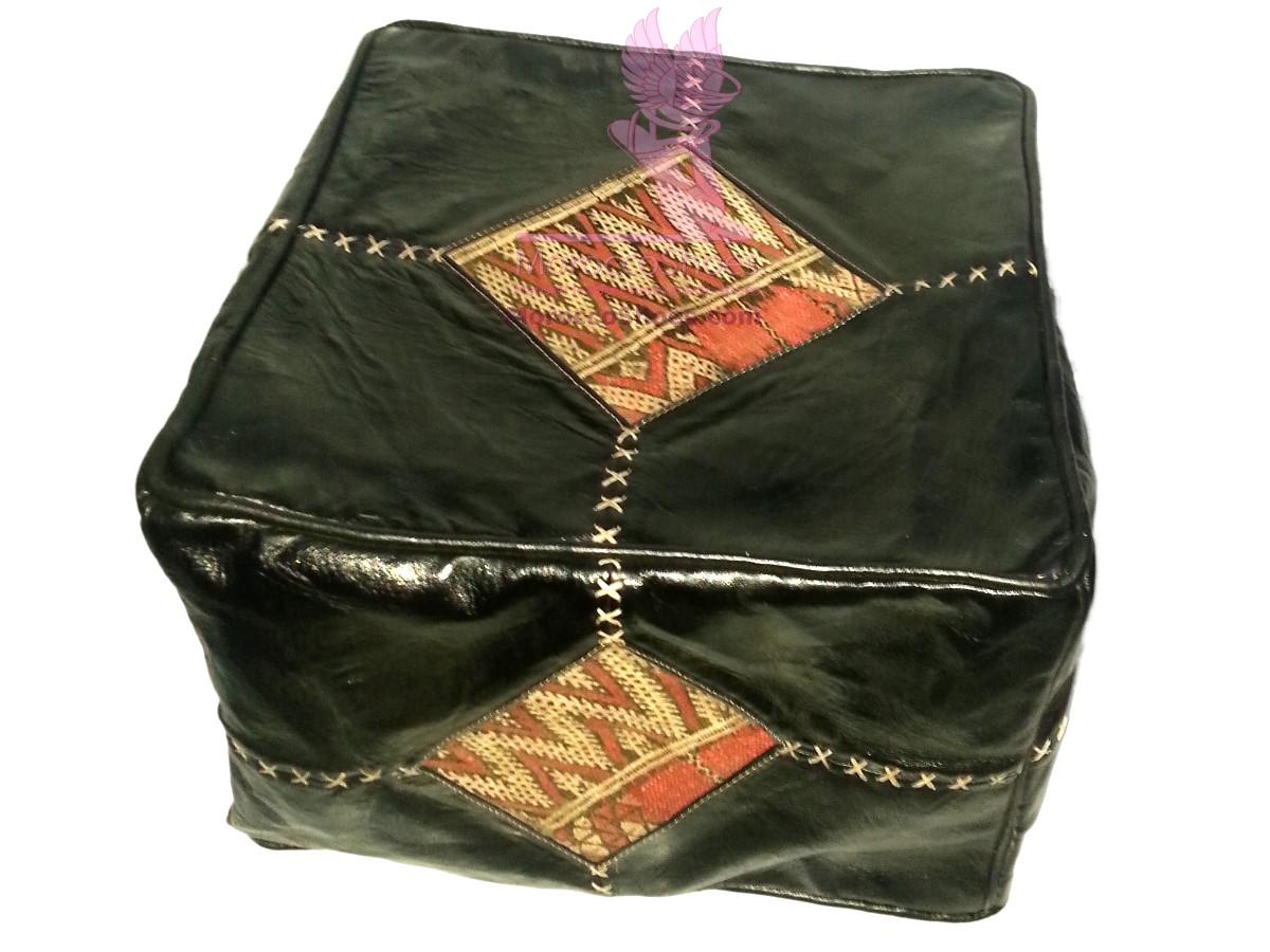 Safari Print Leather Bean Bag