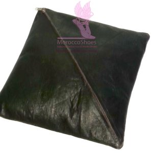 Black Leather Pillow