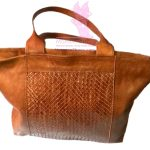Woven Panel Tote