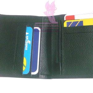 Textured Leather Billfold Wallet