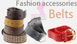 Men and women belts text